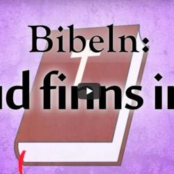 """Bibeln säger: """"Gud finns inte"""" (video från Logia)"""